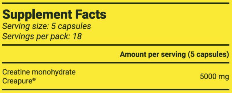 Premium Creatine Supplement Facts