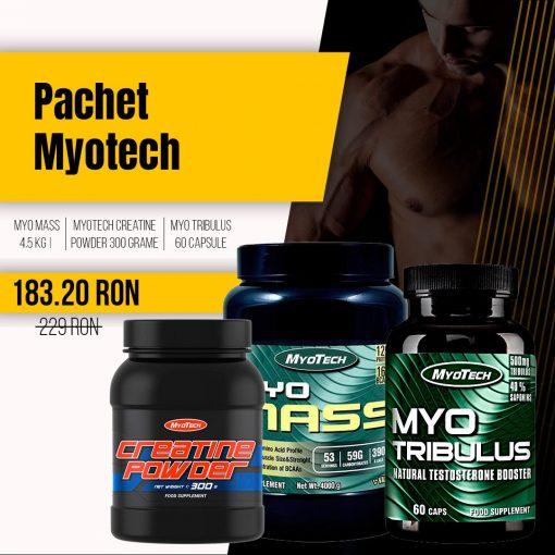 Pachet MyoTech - MYO Mass, Creatine Powder, Tribulus