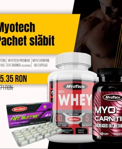 Pachet MyoTech Whey Protein, Fat Burner, Carnitine