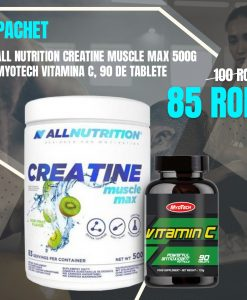 Pachet Promo All Nutrition Creatine 500g si Myo Vitamina C90 Tab